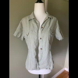 Vintage Y2K 100% Linen Blouse